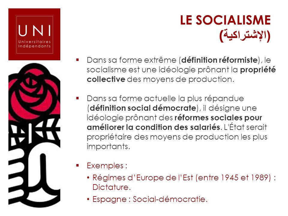 Le SOCIALISME (الإشتراكية)
