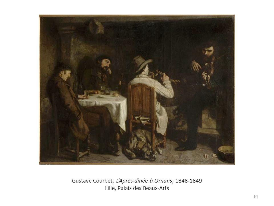 Gustave Courbet, L'Après-dînée à Ornans, 1848-1849 Lille, Palais des Beaux-Arts