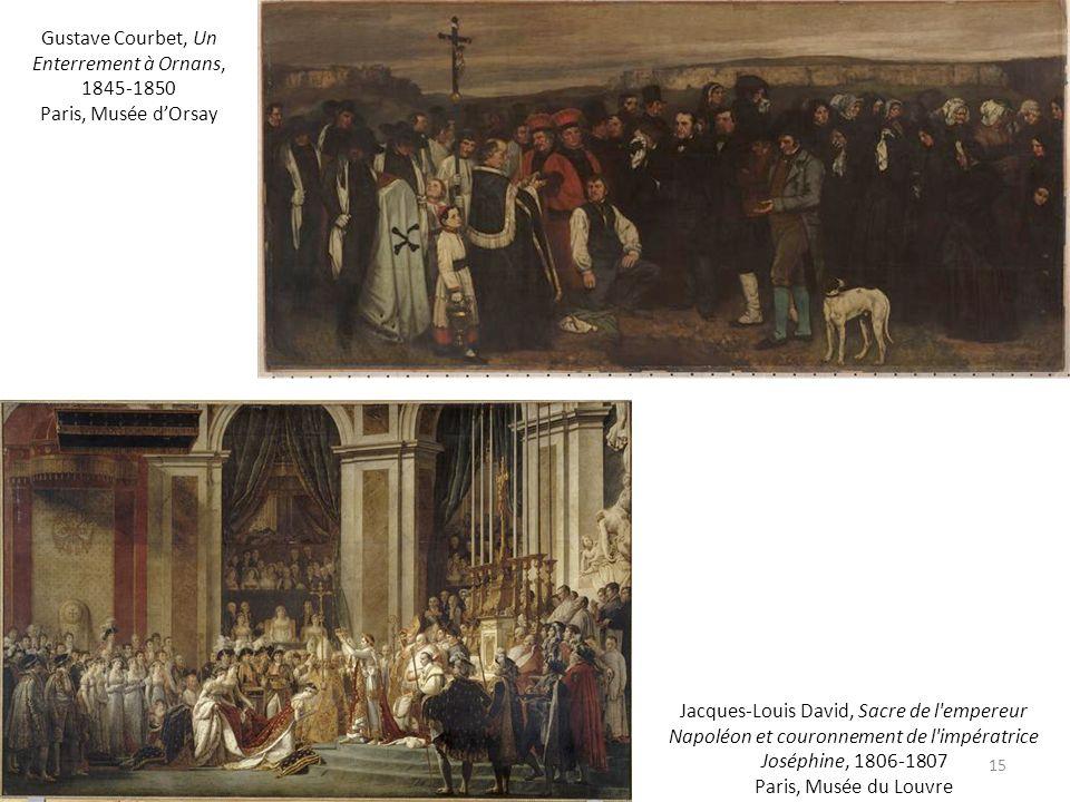 Gustave Courbet, Un Enterrement à Ornans, 1845-1850 Paris, Musée d'Orsay