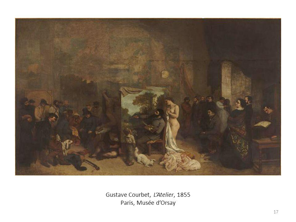 Gustave Courbet, L'Atelier, 1855 Paris, Musée d'Orsay