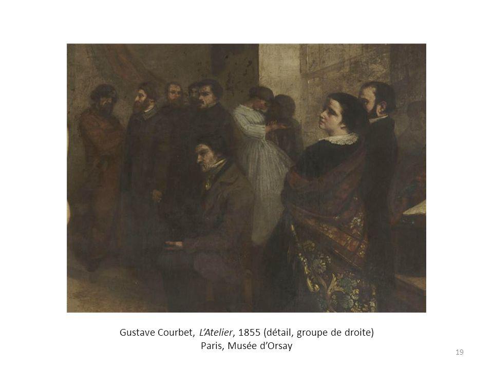Gustave Courbet, L'Atelier, 1855 (détail, groupe de droite) Paris, Musée d'Orsay
