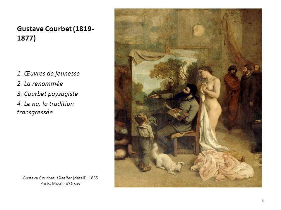 Gustave Courbet, L'Atelier (détail), 1855 Paris, Musée d'Orsay