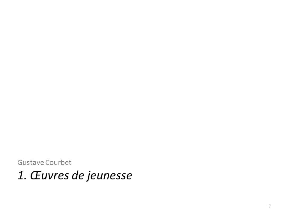 Gustave Courbet 1. Œuvres de jeunesse