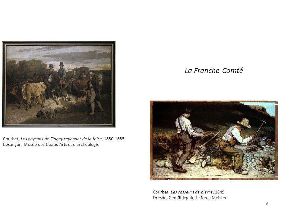 La Franche-Comté Courbet, Les paysans de Flagey revenant de la foire, 1850-1855. Besançon, Musée des Beaux-Arts et d archéologie.