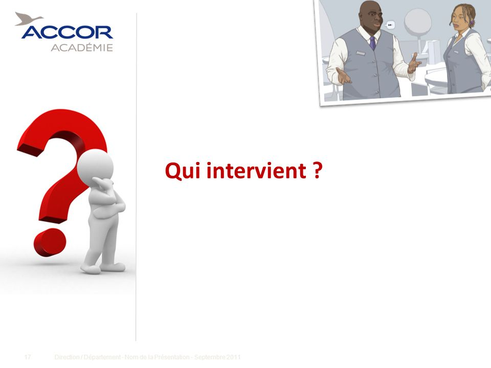 Qui intervient Conditions de réussite :