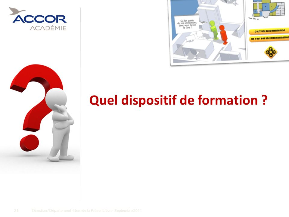 Quel dispositif de formation
