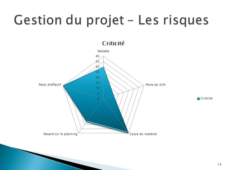 Gestion du projet – Les risques