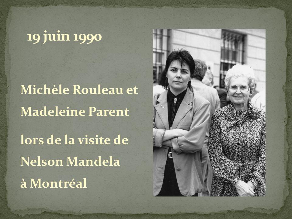 19 juin 1990 Michèle Rouleau et Madeleine Parent