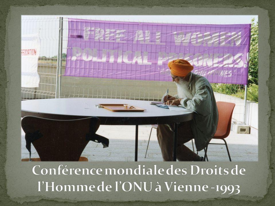 Conférence mondiale des Droits de l'Homme de l'ONU à Vienne -1993