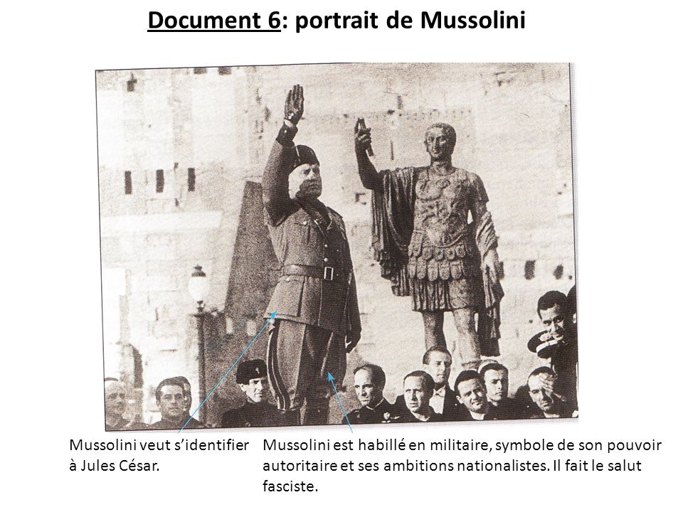 Document 6: portrait de Mussolini