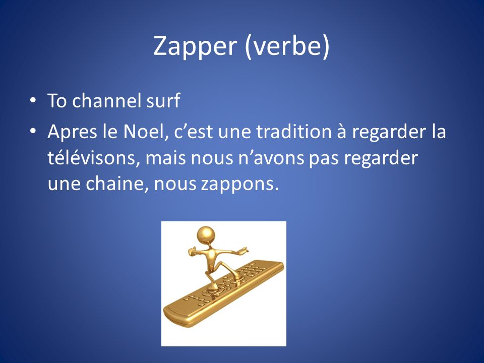 Zapper (verbe) To channel surf