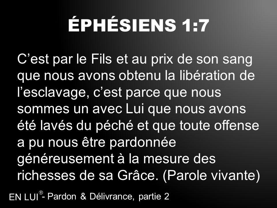 ÉPHÉSIENS 1:7