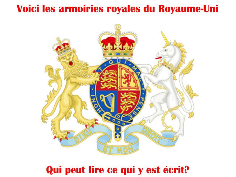 Voici les armoiries royales du Royaume-Uni