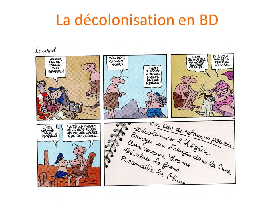 La décolonisation en BD