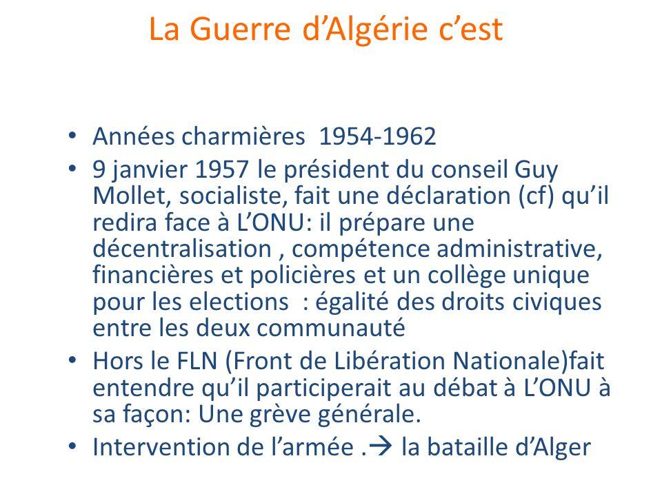 La Guerre d'Algérie c'est
