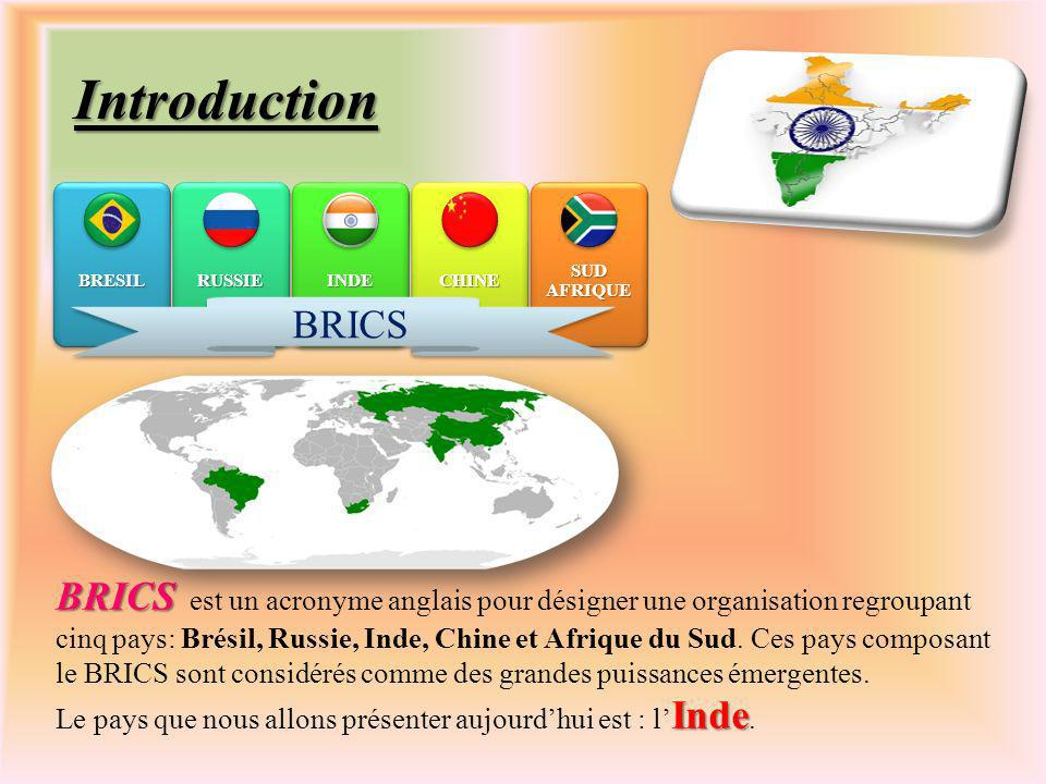 Introduction BRESIL. RUSSIE. INDE. CHINE. SUD AFRIQUE. BRICS.