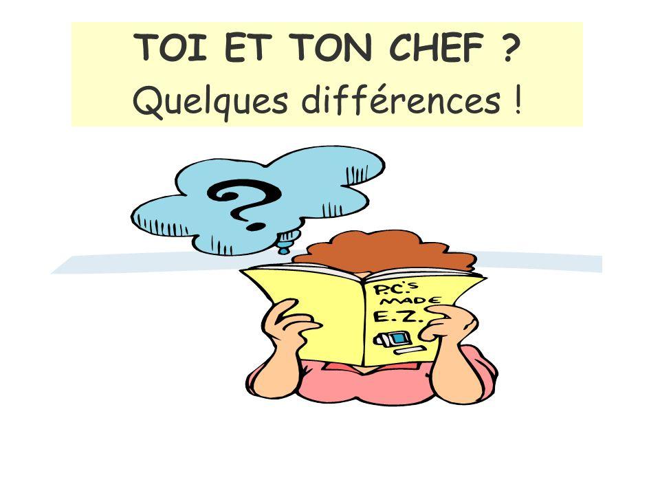TOI ET TON CHEF Quelques différences !
