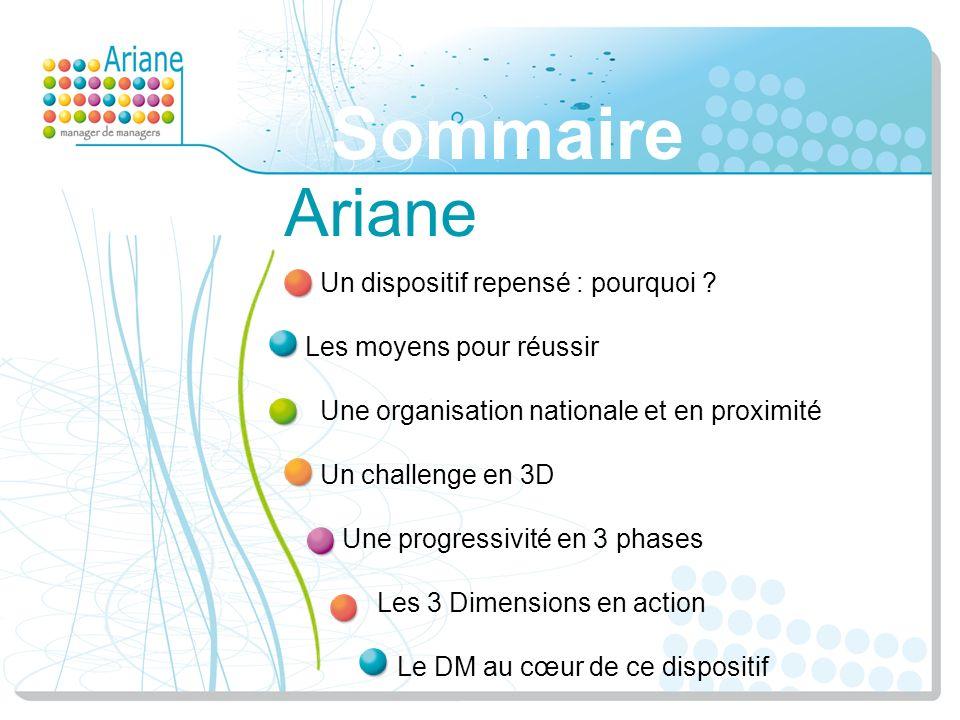 Sommaire Ariane Un dispositif repensé : pourquoi