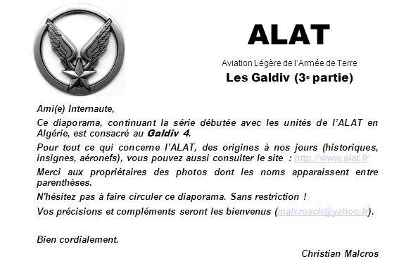 ALAT Aviation Légère de l'Armée de Terre Les Galdiv (3e partie)