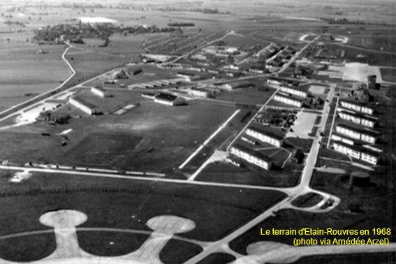 Le terrain d Etain-Rouvres en 1968 (photo via Amédée Arzel).