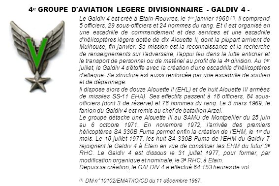 4e GROUPE D AVIATION LEGERE DIVISIONNAIRE - GALDIV 4 -