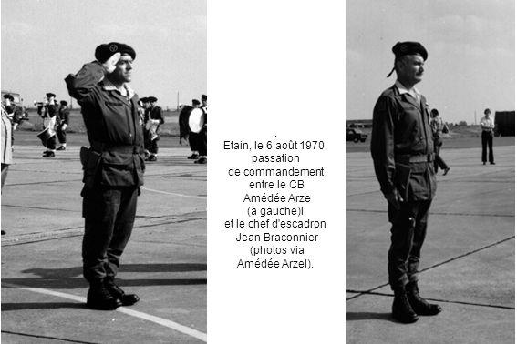 Etain, le 6 août 1970, passation de commandement entre le CB
