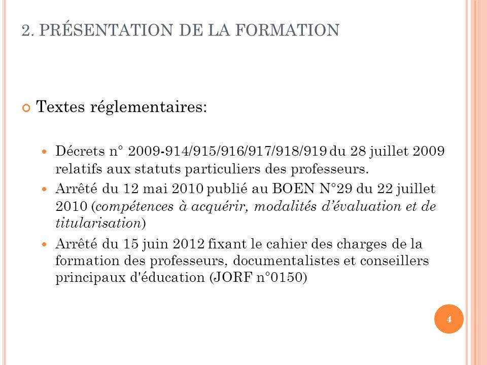 2. PRÉSENTATION DE LA FORMATION