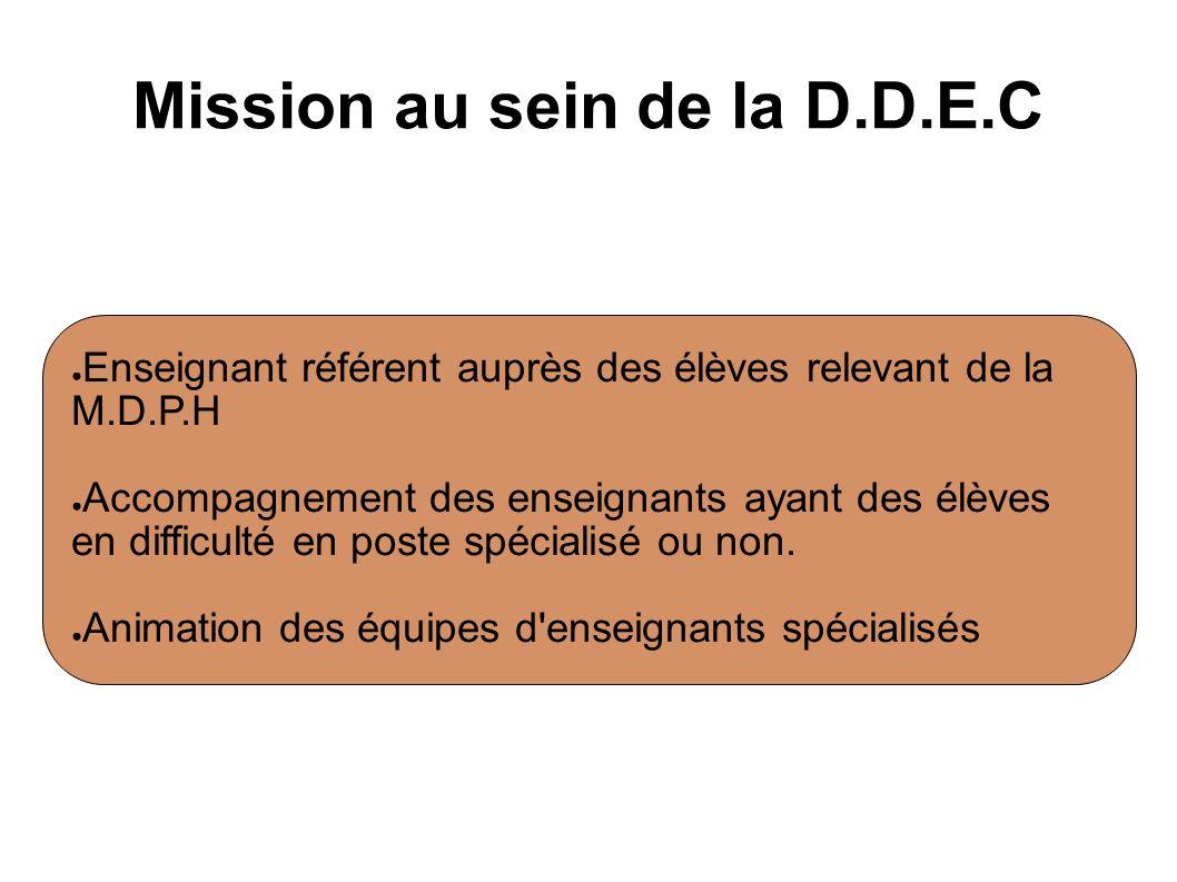 Mission au sein de la D.D.E.C