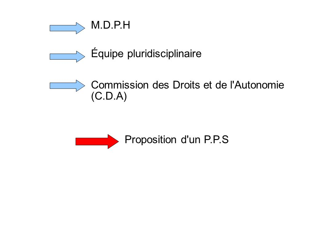 M.D.P.H Équipe pluridisciplinaire.