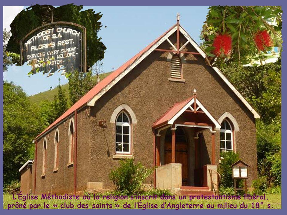 L'Église Méthodiste où la religion s'inscrit dans un protestantisme libéral, prôné par le « club des saints » de l'Église d'Angleterre au milieu du 18° s.