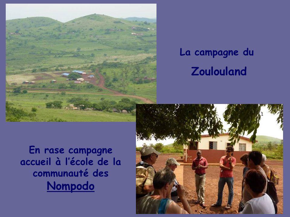 En rase campagne accueil à l'école de la communauté des Nompodo