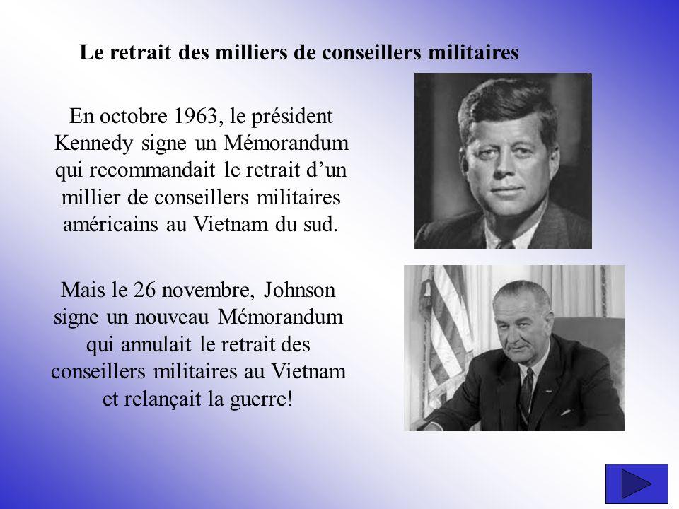 Le retrait des milliers de conseillers militaires