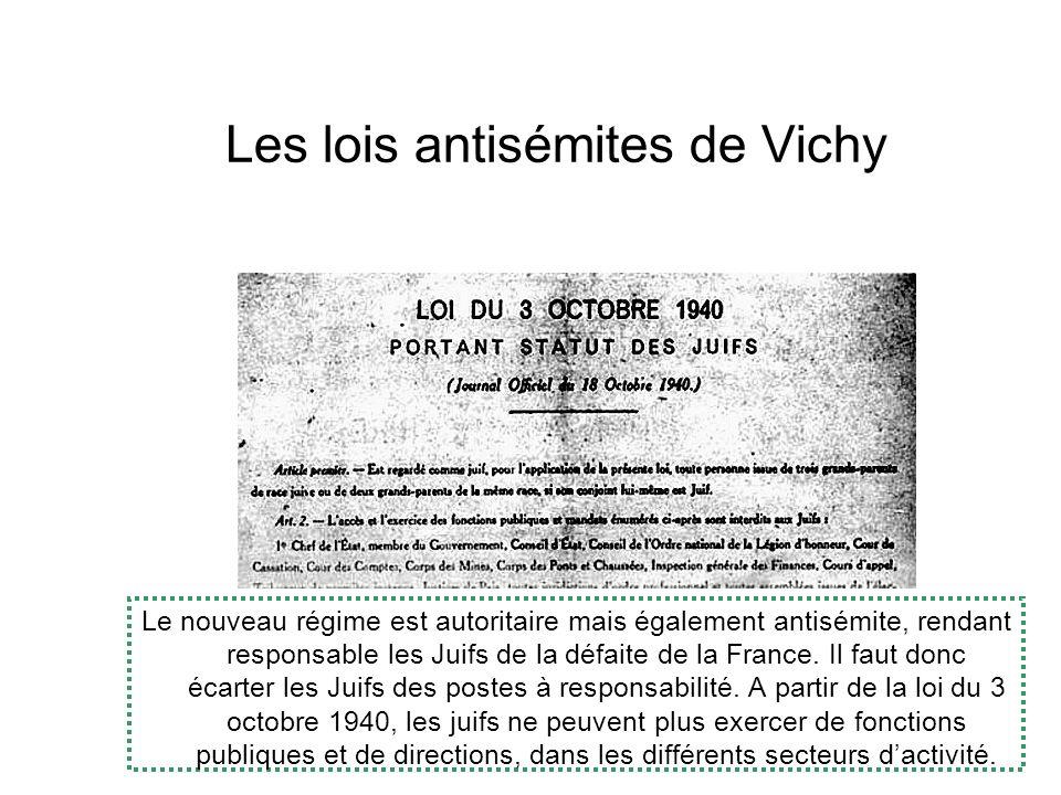 Les lois antisémites de Vichy