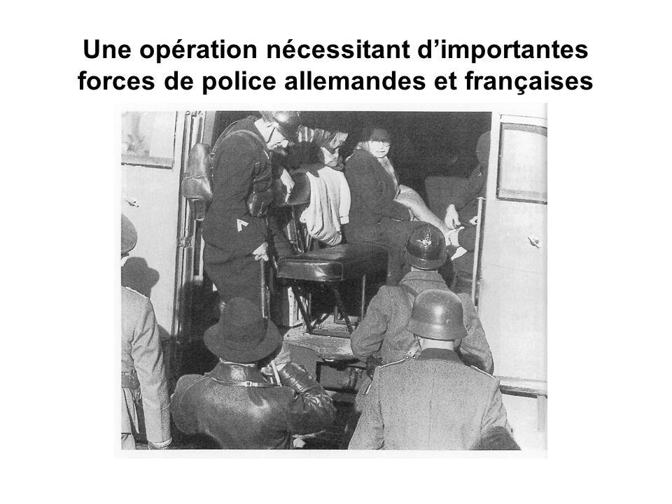 Une opération nécessitant d'importantes forces de police allemandes et françaises