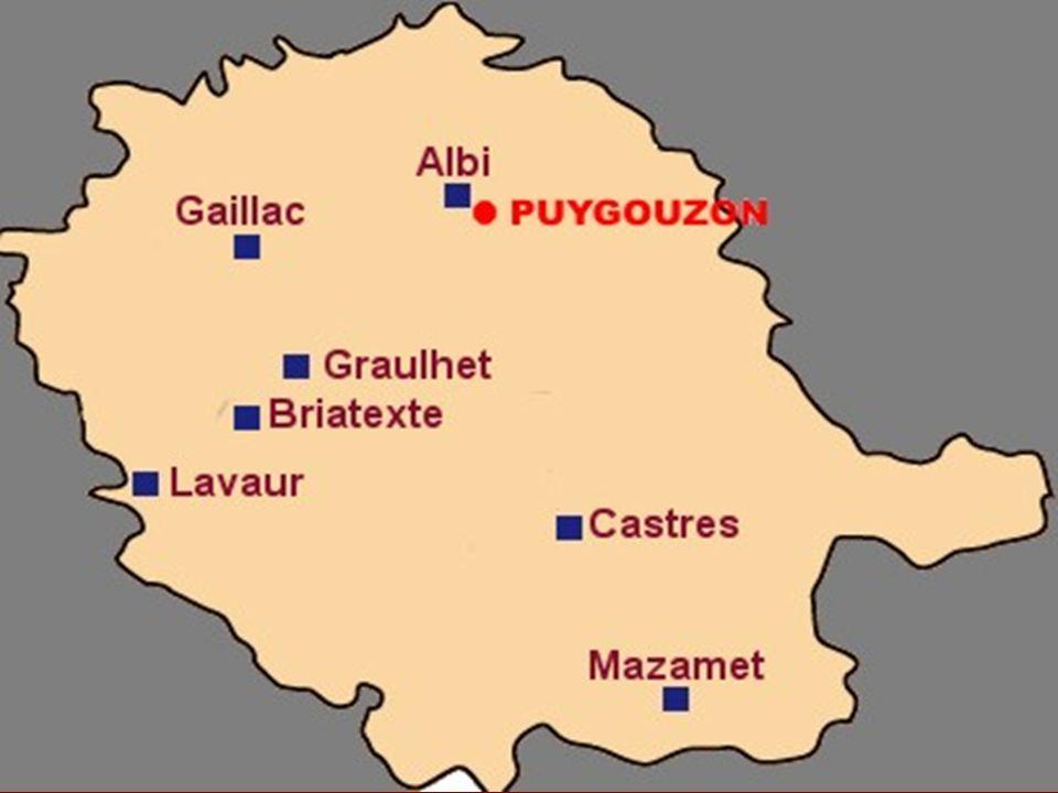 Puygouzon Puygouzon est une petite commune du Tarn. D une superficie de 1 253 ha, elle est accolée au Sud-Ouest.