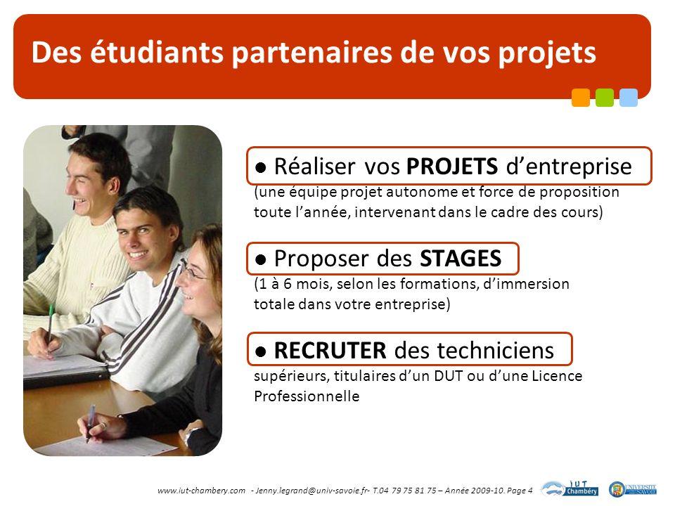 Des étudiants partenaires de vos projets