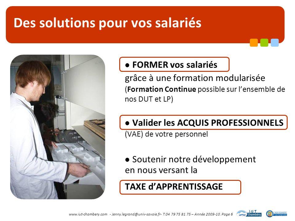 Des solutions pour vos salariés