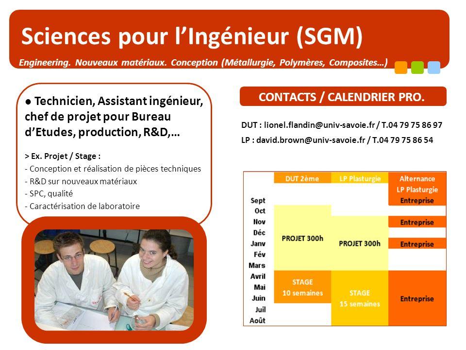 Sciences pour l'Ingénieur (SGM)
