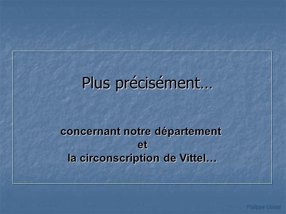concernant notre département la circonscription de Vittel…