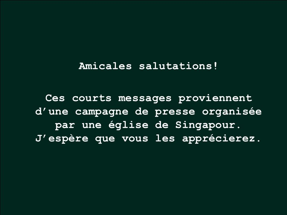 Amicales salutations!