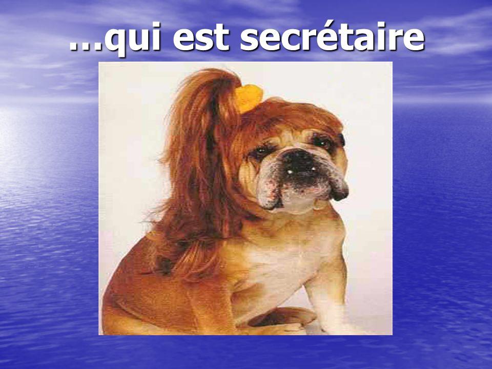 …qui est secrétaire Oh la belle rousse