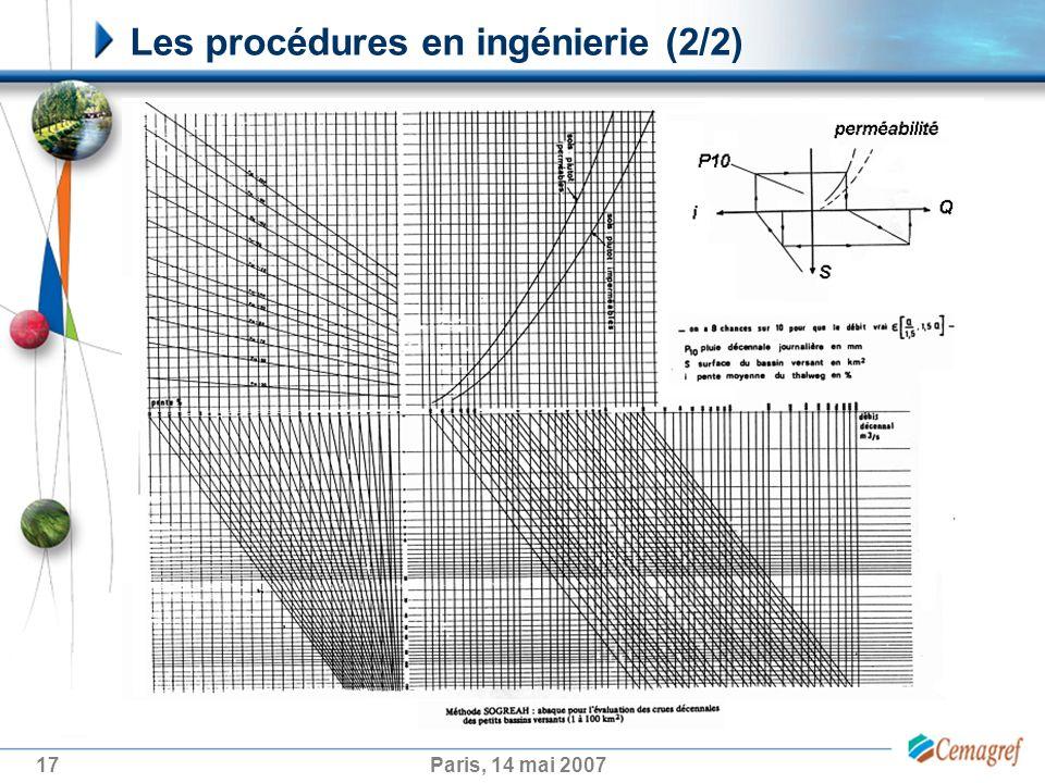 Les procédures en ingénierie (2/2)