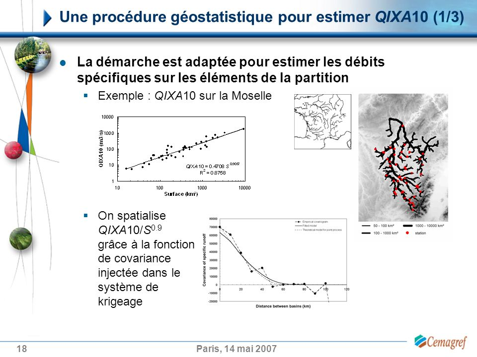 Une procédure géostatistique pour estimer QIXA10 (1/3)