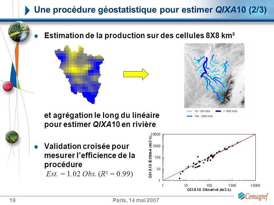 Une procédure géostatistique pour estimer QIXA10 (2/3)