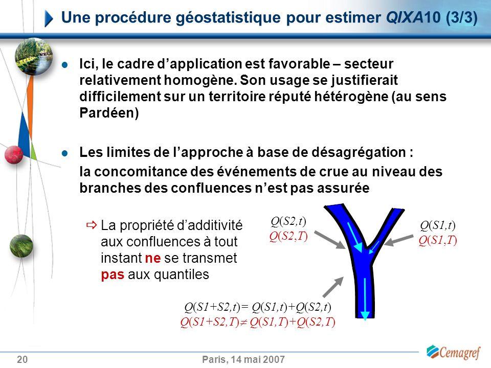 Une procédure géostatistique pour estimer QIXA10 (3/3)