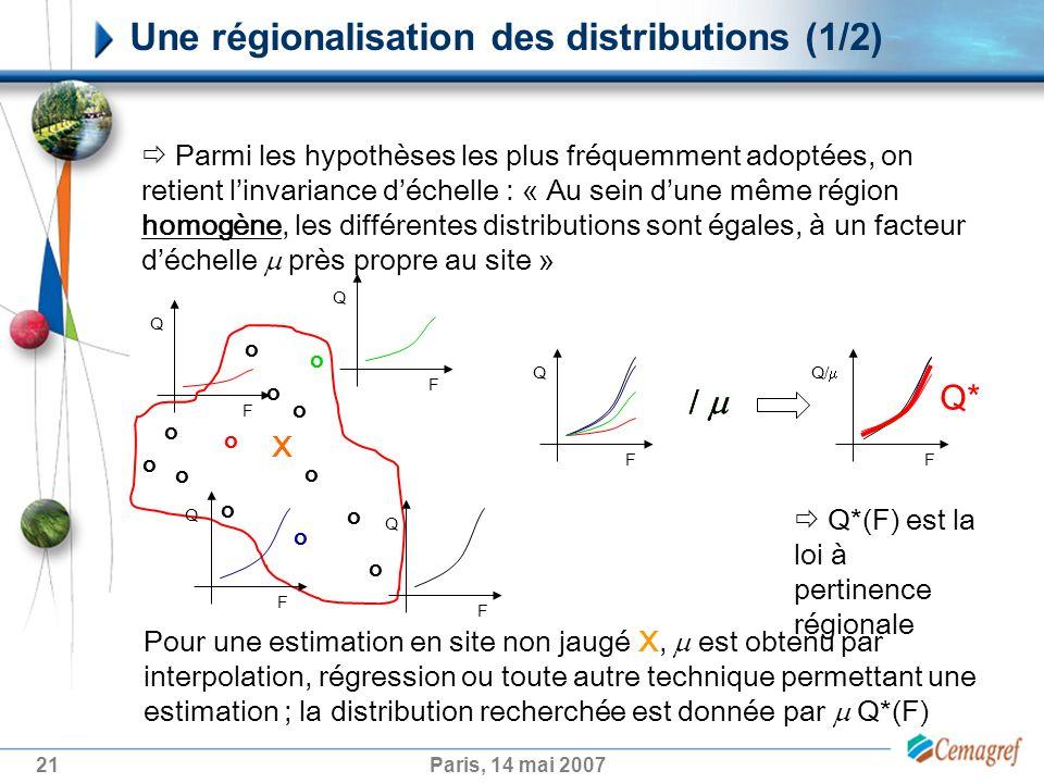 Une régionalisation des distributions (1/2)