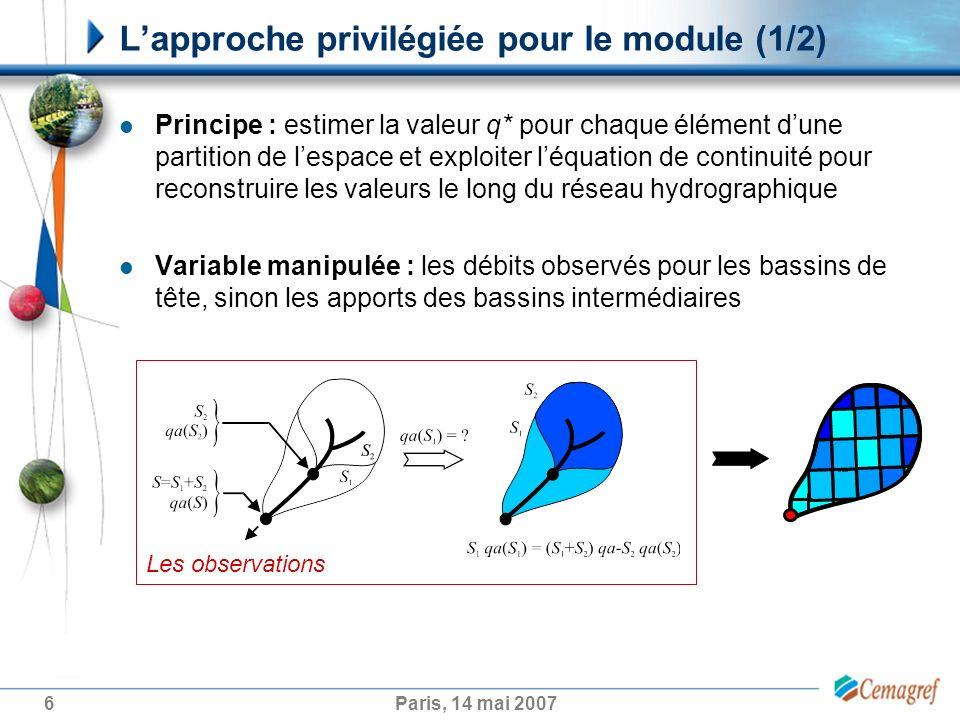 L'approche privilégiée pour le module (1/2)