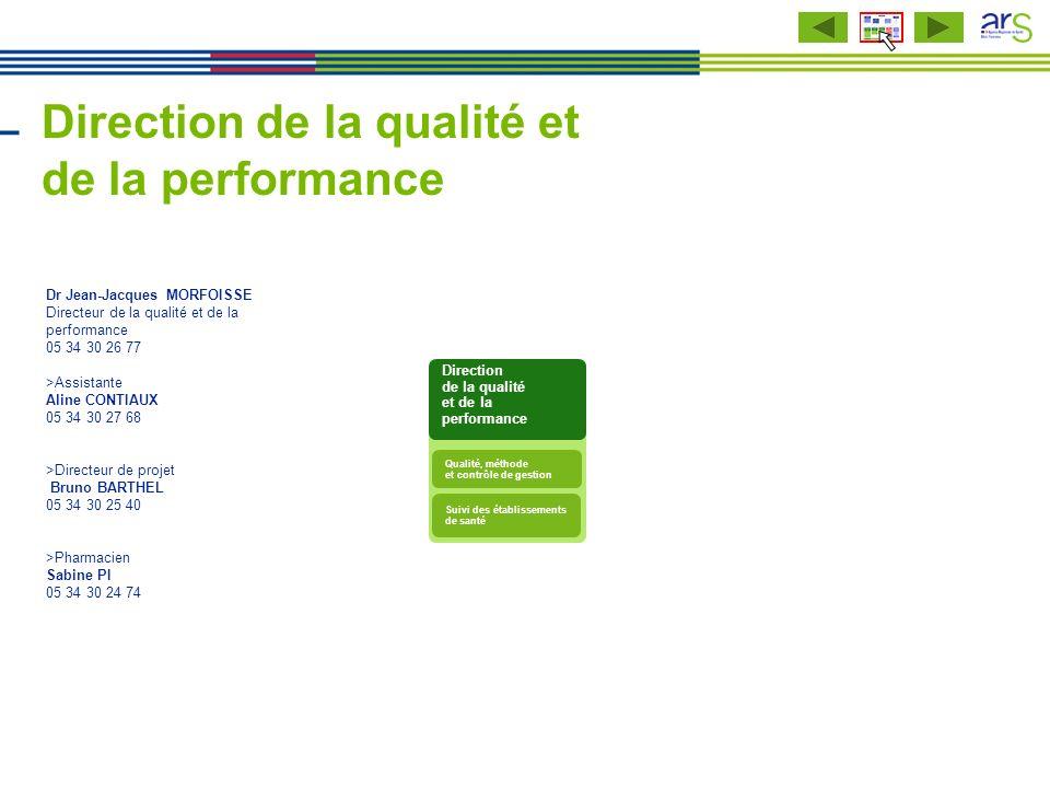 Direction de la qualité et de la performance