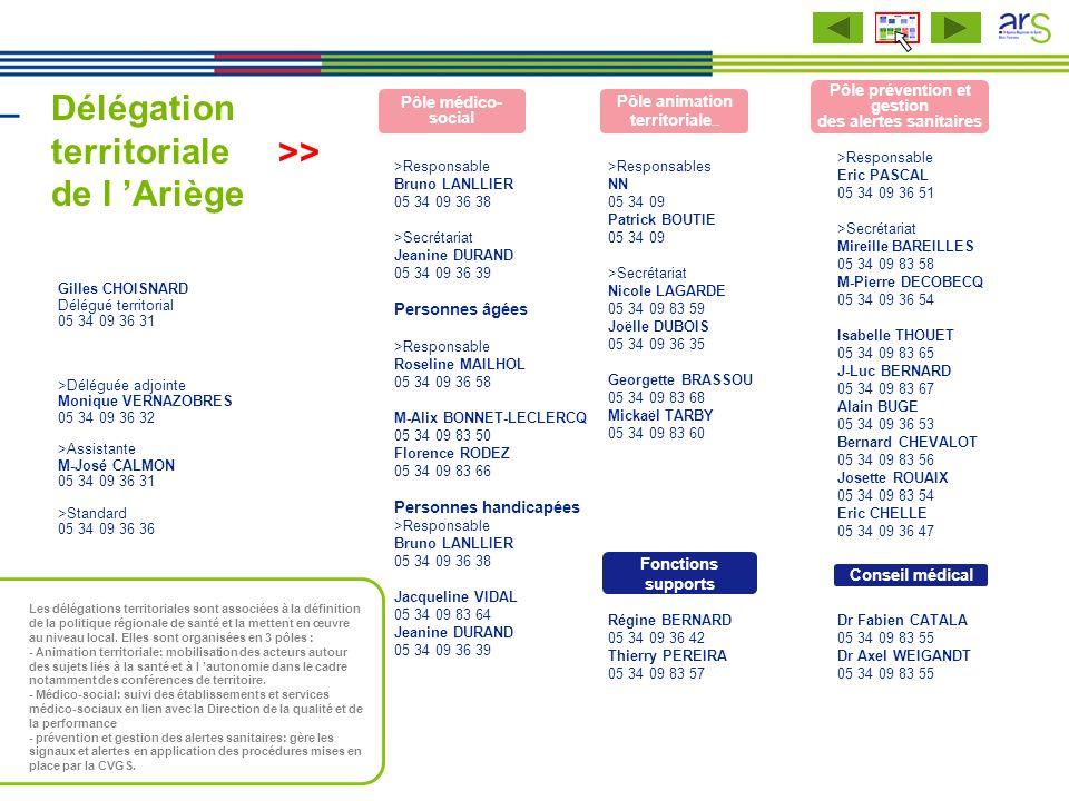 Délégation territoriale de l 'Ariège