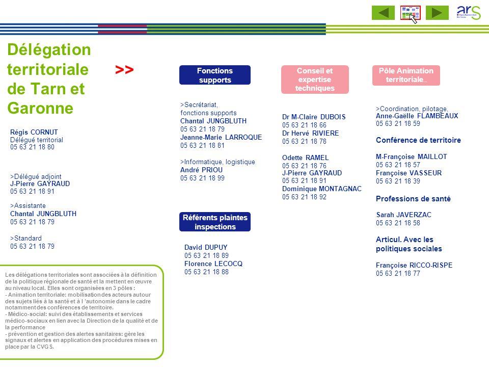 Délégation territoriale de Tarn et Garonne